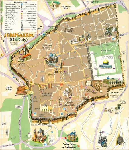 Jerusalem old city map